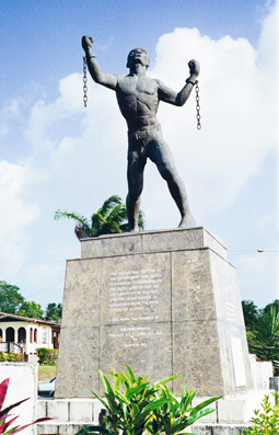 Bussa's Monument in Barbados