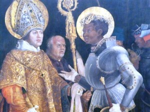 Saint Erasmus and Saint Maurice in heaven